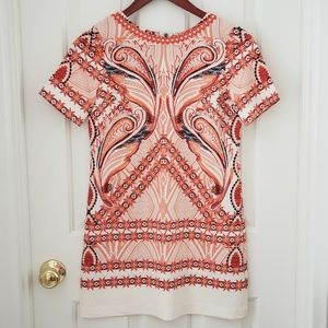 NWT Abercrombie & Fitch Pink Pattern Shift Dress